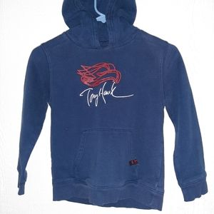 """Tony Hawk Blue Sweater Youth Hoodie size m 16"""" pit"""